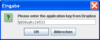 VFSLib Dropbox Application Key